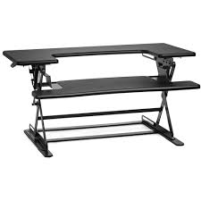 Sit And Stand Desk by Halter Ed 600 Height Adjustable Desk Sit Stand Ed 600blk B U0026h
