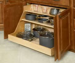 cabinet storage for pots and pans with rustic white kitchen pull