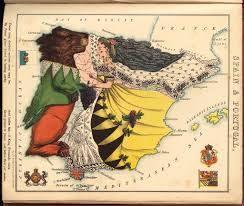 Portugal Spain Map by Geographical Fun William Harvey Spain U0026 Portugal Map 1869