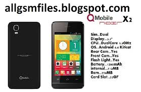 pc tablet smart phone qmobile x2 android latest flash file