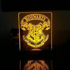 harry potter night light hogwarts crest from harry potter acrylic led light