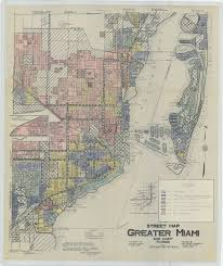 Map Of Miami Neighborhoods by A 1935 Redlining Map Of Miami Florida