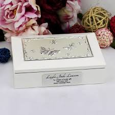 personalised jewelry box personalised white wood box gift jewellery box