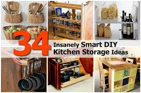 diy kitchen furniture 34 insanely smart diy kitchen storage ideas