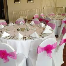 Pink Chair Covers Chair Cover Hire Whyte Weddings Stationery
