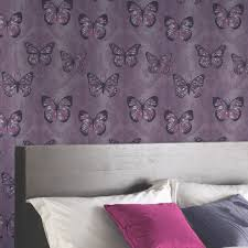 girls chic wallpaper kids bedroom feature wall decor various