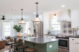 joanna gaines farmhouse kitchen with cabinets trending in design modern farmhouse interiors akdo tile