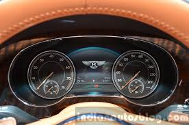 bentley bentayga 2015 bentley bentayga instrument cluster at the iaa 2015 indian autos