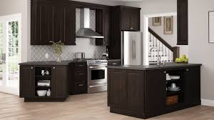 diy espresso kitchen cabinets gretna wall cabinets in espresso kitchen the home depot
