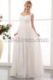 pregnancy wedding dresses flowing straps chiffon plus size maternity wedding