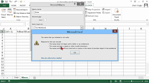 microsoft office excel 2013 tutorial recording and running a