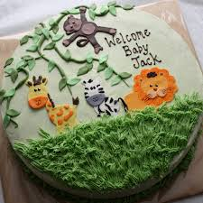 jungle baby shower cakes kake jungle animal baby shower