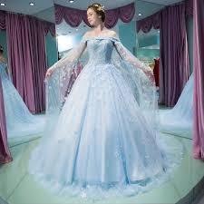 light blue wedding dresses vestido noiva vintage light blue wedding gown robe de mariee