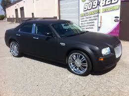 chrysler car 300 matte black chrysler 300 car wrap