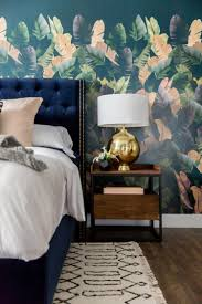 chambre haute midnight tropic wallpaper mural by cara loren ma maison