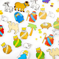 foam nativity stickers pack of 50 religious and multicultural