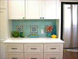 kitchen copper tin backsplash glass and stone mosaic tile blue