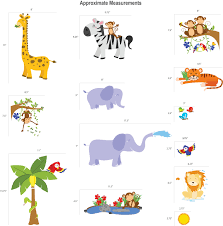 jungle safari wall decals fun animals for kids rooms and nursery images pictures of jungle safari wall decals fun animals for kids rooms and nursery easy peel wall stickers