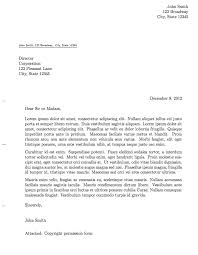formal letter example pdf formal letter template