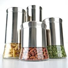 kitchen canisters stainless steel stainless steel kitchen canister set mod vintage canisters 480x360