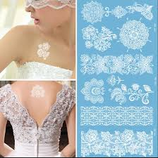 50pcs flash waterproof tattoo women white temporary tattoos henna