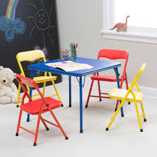 Folding Childrens Table And Chairs Showtime Childrens Folding Table And Chair Set Multi Color
