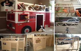how to build a fire truck bunk bed home design garden