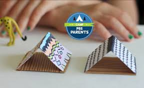 diy mini camping tents crafts for kids pbs parents pbs