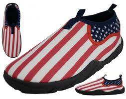 Design Of American Flag Amazon Com American Flag Design Water Shoes Usa Style Slip On