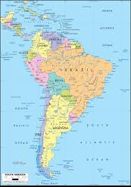 map of america with country names south america country map new south america countries map south