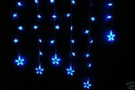 buy 105 blue led 15 snowflake curtain lights for frozen
