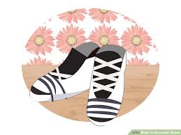 How To Decorate Shoes 3 Ways To Decorate Shoes Wikihow