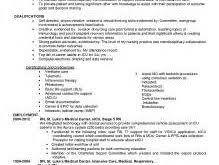 Critical Care Rn Resume Unbelievable Design Critical Care Nurse Resume 15 Critical Care