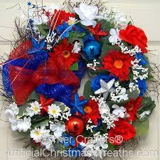 patriotic wreath artificialchristmaswreaths memorial day
