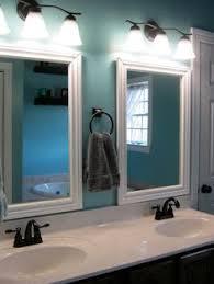 Framed Bathroom Mirror by Incredible Bathroom Makeover Ideas Anyone Can Diy Tile Mirror