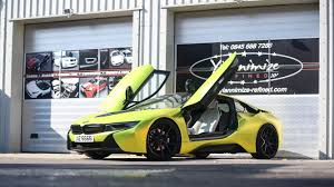 Bmw I8 Green - bmw i8 wrapped satin chrome yellow youtube