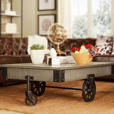 railroad cart coffee table restoration hardware home decorating