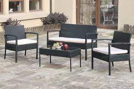4 pc liz kona ii collection steel frame and resin wicker patio