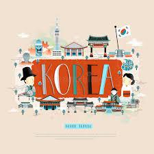 korean design korea travel poster stock vector illustration of vector 74356690