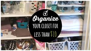 dollar tree cheap closet organization youtube