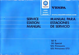 50r 50 special primavera factory repair manual