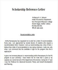 scholarship reference letter templates 5 free word pdf format