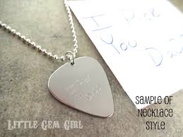 stainless steel guitar necklace images Double sided engraved custom text guitar pick personalized jpeg