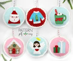 pattern tree ornament patterns felt ornament