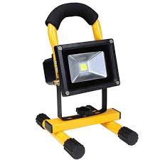 10w rechargeable flood light 10w portable rechargeable led flood light yellow the diy outlet