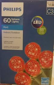 philips 60 sphere lights philips led 60 red faceted sphere lights bulbs green wire 19 ft