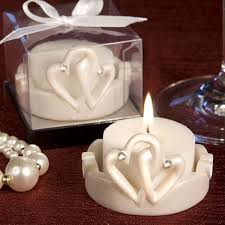 candle favors hearts design candle favor