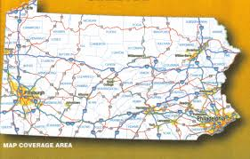Pennsylvania Map Cities by Pennsylvania Laminated Wall Map Jimapco