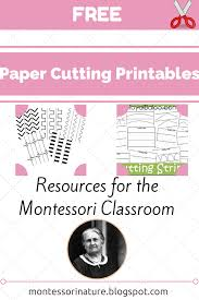 free paper cutting printables resources for the montessori