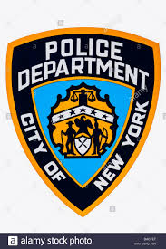 city of new york police department badge logo nyc usa stock